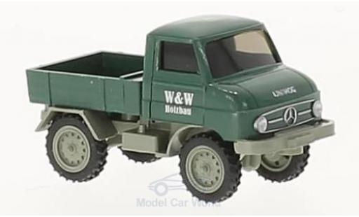 Mercedes Unimog 1/87 Wiking U 411 W&W Holzbau miniatura