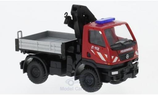 Mercedes Unimog 1/87 Wiking U20 Feuerwehr mit Ladekran miniatura