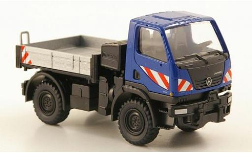 Mercedes Unimog 1/87 Wiking U20 Pritsche blue diecast model cars