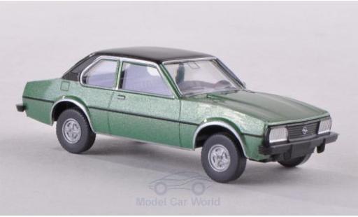 Opel Ascona C 1/87 Wiking B metallise verte/matt-noire miniature