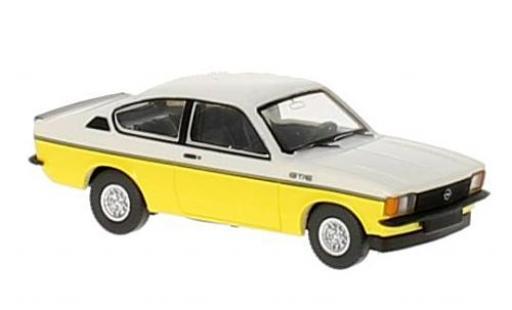 Opel Kadett 1/87 Wiking C Coupe GT/E jaune/blanche miniature
