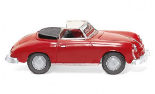 Porsche 356 1/87 Wiking Cabriolet rouge 1959