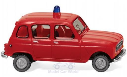 Renault 4 1/87 Wiking Feuerwehr miniatura