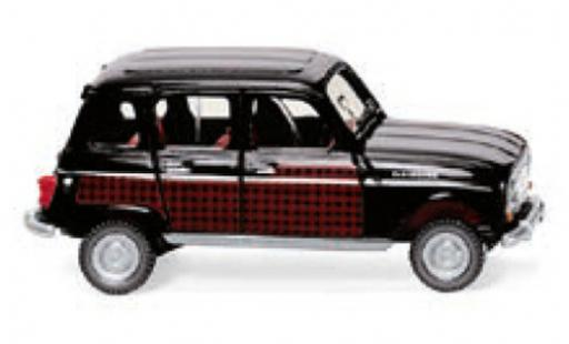 Renault 4 1/87 Wiking Parisienne noire/rouge 196 miniature