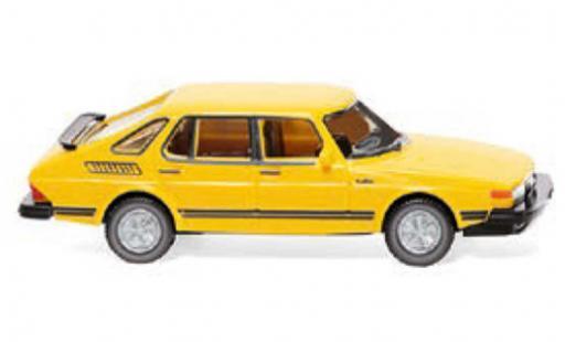 Saab 900 1/87 Wiking Turbo jaune 1978 miniature