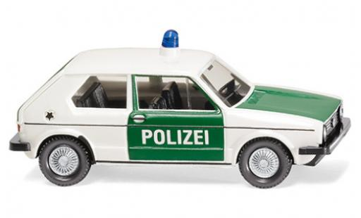 Volkswagen Golf 1/87 Wiking I Polizei 1974 coche miniatura