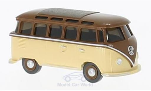 Volkswagen T1 B 1/87 Wiking marron/beige Sambabus miniature