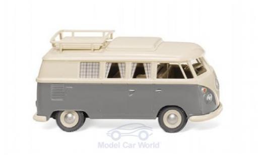 Volkswagen T1 1/87 Wiking Campingbus beige/grise miniature