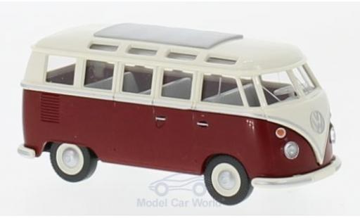 Volkswagen T1 B 1/87 Wiking Sambabus beige/red diecast model cars