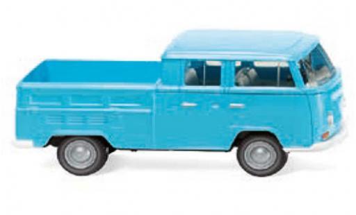 Volkswagen T2 1/87 Wiking Doppelkabine blue 1967 diecast model cars