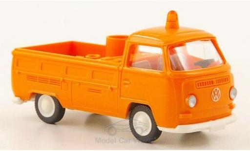 Volkswagen T2 A 1/87 Wiking Pritsche orange Kommunal miniature