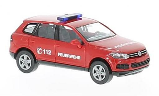Volkswagen Touareg 1/87 Wiking pompiers coche miniatura