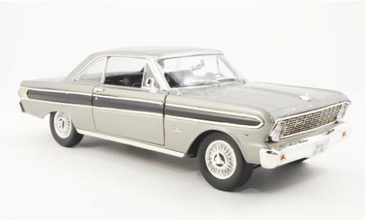 Ford Falcon 1/18 Yat Ming metallise grise/noire 1964 miniature