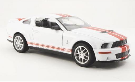 Shelby GT 1/24 Yat Ming 500 blanche 2007 avec rouge Streifen miniature