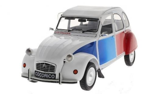 Citroen 2CV 1/12 Z Models Cocorico blanche/Dekor 1986 miniature